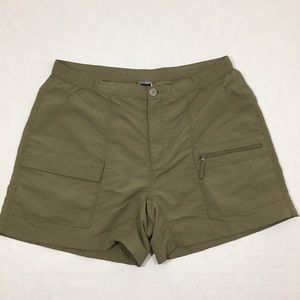 Women's The North Face Green Shorts Hiking Logo L